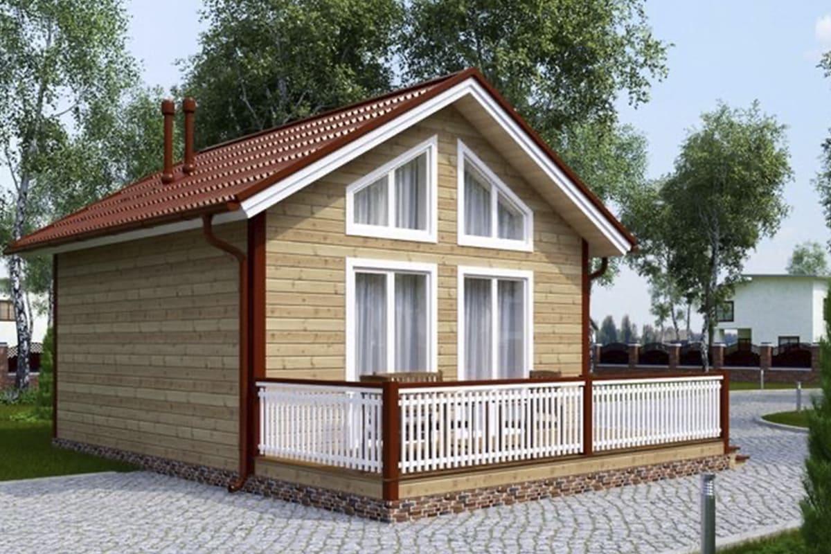 Фото каркасного дома до 100 м²