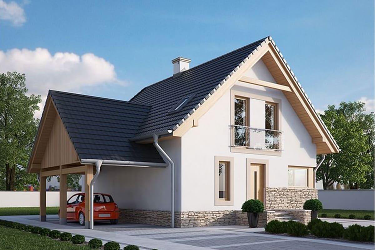 Фото каркасного дома от 150 м²