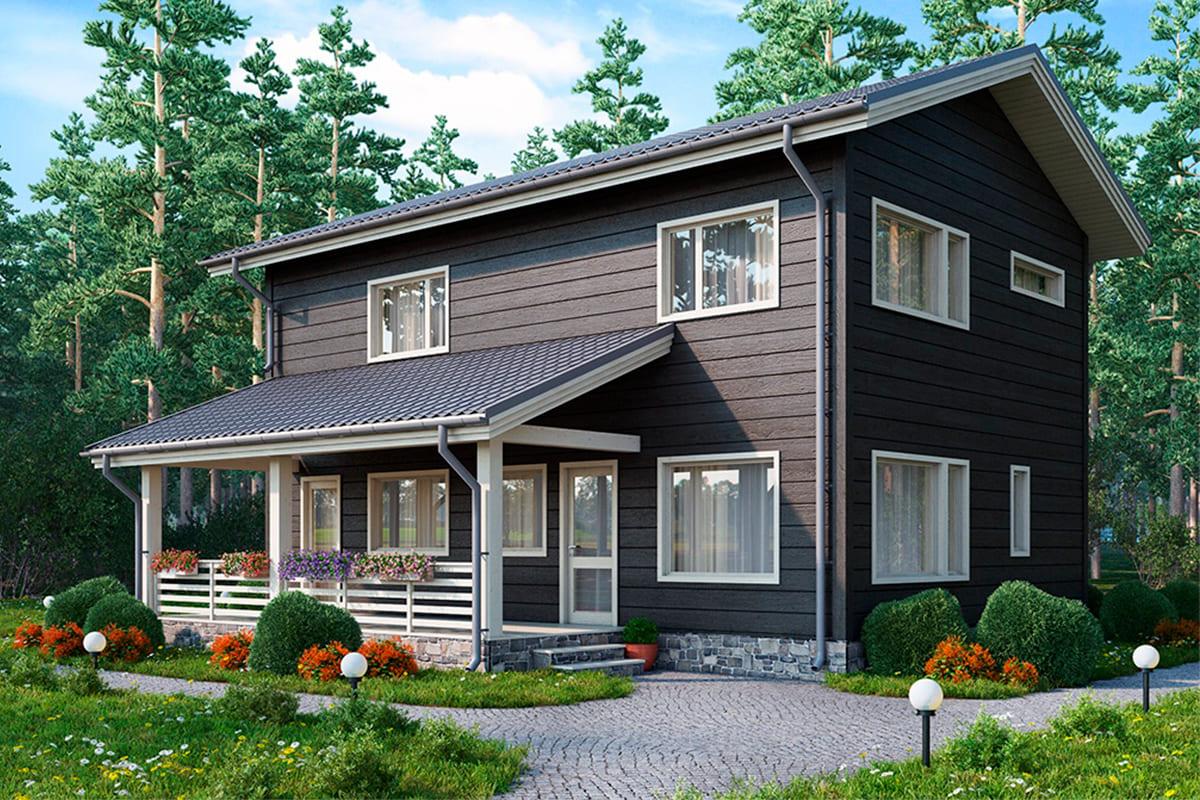 фото каркасные дома от 150 м²