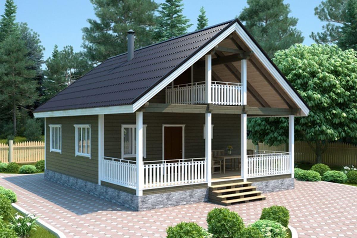 Фото каркасного дома до 150 м²