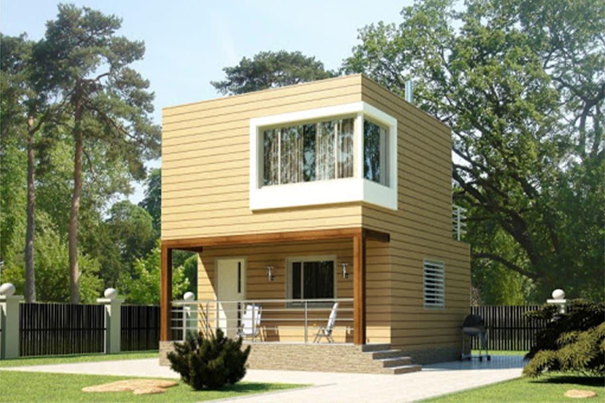 фото каркасные дома до 100 м²