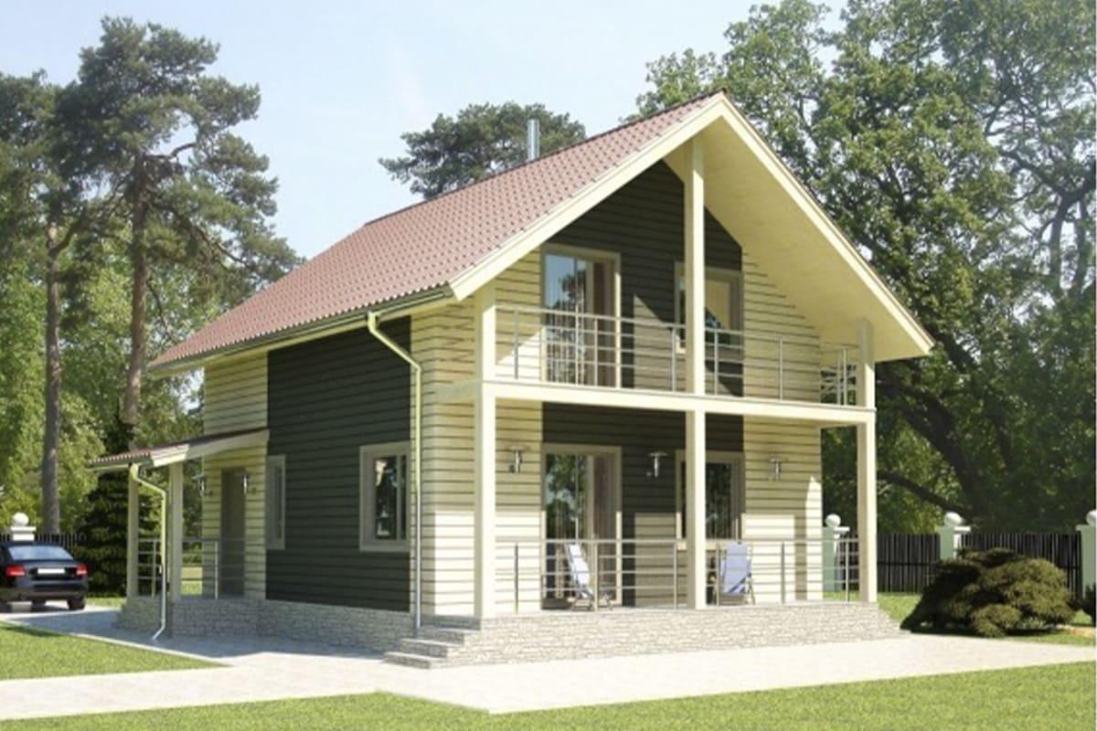 фото каркасные дома до 150 м²